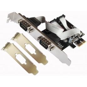 TARJETA PCI-EX 2P SERIE L-LINK CON ADAP PERFIL BAJO LL-PCIEX-SERIE