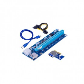 RISER CARD RS006C PCI-E X16 EXPRESS 1X-16X ADAPTER 6PIN USB3.0