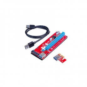 RISER CARD RS007S COMPATIBLE 1X-4X-8X-16X PCI-E PLACA BASE CONECTOR SATA