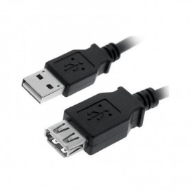 CABLE USB 2.0 TIPO AM-AH NEGRO 3.0 M NANOCABLE 10.01.0204-BK