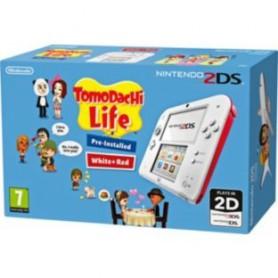 CONSOLA NINTENDO 2DS WHITE RED  TOMODACHI LIFE GAME LAPIZ TARJETASD4GB