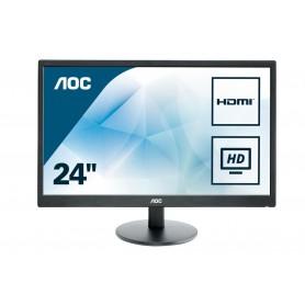 MONITOR 23 LED AOC E2470SWHE 1920X1080 FHD VGA HDMI NEGRO