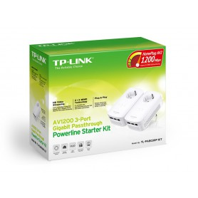 POWERLINE TP-LINK PA8030P 1200MBPS ETHERNET ADAPTER KIT TL-PA8030PKIT