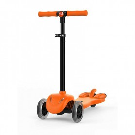 PATIN LEOTEC CHILDREN SCOOTER ORANGE REPROD MP3 RUEDAS LED HUMO COLOR 50KGMAX