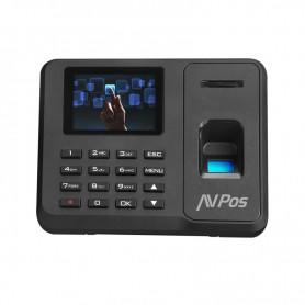 CONTROL DE PRESENCIA AVPOS CPB18 TERMINAL BIOMETRICO HUELLA TARJETA RFID PIN USB