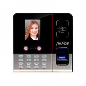 CONTROL DE PRESENCIA AVPOS CRF6 RECONOCIMIENTO FACIAL HUELLA TARJETA RFID PIN