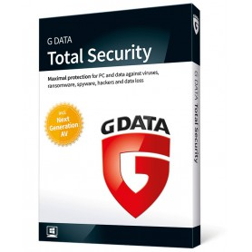 SOFTWARE ANTIVIRUS GDATA 2018 TOTAL SECURITY 3 PC 12 MESES