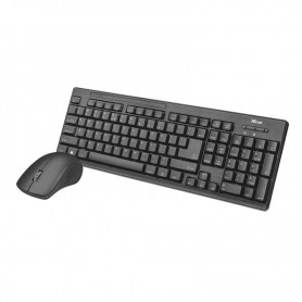 TECLADO TRUST RATON ZIVA WIRELESS BLACK 22025