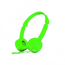 AURICULAR TRUST NANO HEADPHONES PLEGABLE SUMMER GREEN 23101