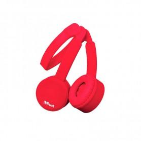 AURICULAR TRUST NANO HEADPHONES PLEGABLE SUMMER RED 23105