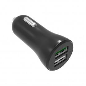 CARGADOR USB COOLBOX COCHE QC3.0 COO-CU2QC30-C